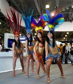 Бразильское шоу на презентации Sony